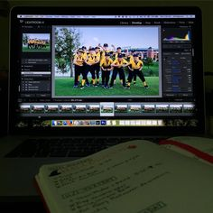 One kid is with a friend and the other is in the backyard playing with Dad. I'm getting more alone time than usual today.  Sitting down to edit some little league photos from last night and write in my bullet journal (which I just started last month and LOVE). #onedayhh