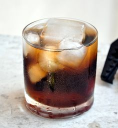 This is the more well known alcoholic version of the cocktail. It is dark and subtle, hence fits the name. Build the cocktail in the glass over ice.Pour the spirits and stir briefly.Top up with the ...