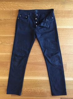 ACNE STUDIOS Mens VEGA DEEP PETROL Stretch Denim Blue Jeans Size