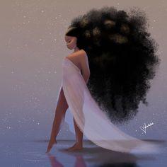 Breathe Art Print by vashtiharrison Art Black Love, Black Girl Art, Black Girl Magic, Black Girls Drawing, Black Girls With Tattoos, Black Art Painting, Black Artwork, Mode Poster, Black Girl Cartoon