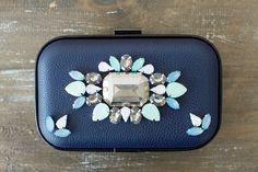 DIY Jeweled Clutch // via @A Pair & A Spare