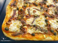Cocinax2. Las recetas de Laurita.: Pizza puttanesca. Masa de pizza con masa madre