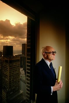 Philip Johnson. Photo by Philip Sayer