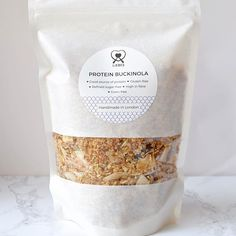 white kraft window bags #windowbags #granola #packaging curated by Copious Bags™