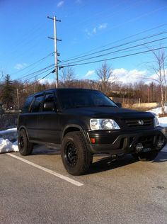 Flat black offroad CRV, the baddest ass crv. I'd rub my ...