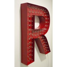 Red Letter R Marquee Light Sign