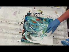 Acrylic pour/different technique with a nice surprise - YouTube
