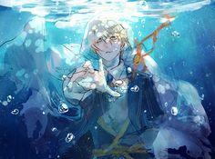 Tags: Touken Ranbu, Yamanbagiri Kunihiro, Pixiv Id 1339017 Boy Character, Character Concept, Character Design, Me Me Me Anime, Anime Guys, Mutsunokami Yoshiyuki, Touken Ranbu Characters, Underwater Art, Nagito Komaeda