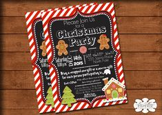 christmas gingerbread invitation gingerbread by LisaMariesPaperie