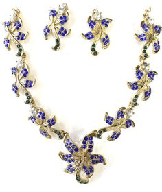 Buy Zaveri Pearls Blue Flowers Designer Necklace Set For Women -Zpfk1298 Online at Low Prices in India | Amazon Jewellery Store - Amazon.in