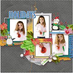 Summer Santa Page Kit by #NibblesScribbles & #Valentina #christmasinjuly #theStudio #digitalscrapbooking