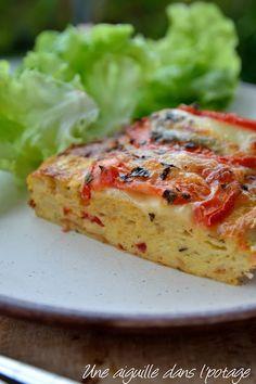 Pudding de pain chorizo-tomate-mozzarella Chorizo, Party Buffet, Mozzarella, Flan, Quick Meals, Bruschetta, Salmon Burgers, Entrees, Goodies