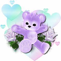 Purple Animated Teddy Bears   Glitter Graphics » Animals » Purple Teddy Bear