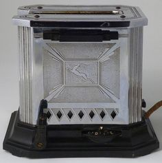 """Gazelle Deco Hotpoint Toaster - Early 1930s """"Flapper"""""""