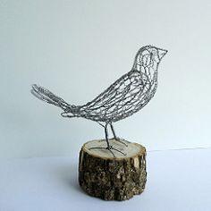 Wire Bird Galvanized Steel (Ruth Jensen) Tags: wiresculpture wirebird sparkflight ruthjensen galvanizedsteelwire