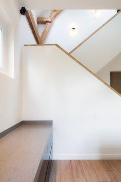 Coach house / BYTR architecten / ZECC architecten, interior, stairs, wood, monumental
