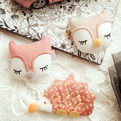 Korea Handmade Cloth Fox Hedgehog Animal Shape Hair Accessories Hair Clip Flower Crown Hairpin Turbante Headbands for Girls 4