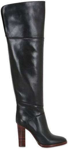 105mm Leather Over The Knee Boots