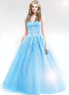 This is a very cute bella blue prom dress