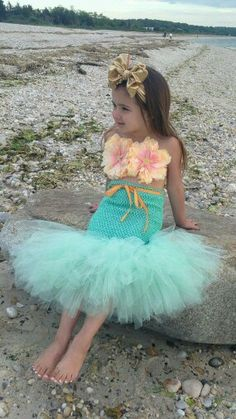 Mermaid Tutu Little Mermaid Mermaid Costume Ocean Theme Beach Theme Beach Birthday Photography Prop Baby Bikini OOC Baby Bikini, Little Mermaid Birthday, Little Mermaid Parties, Little Mermaid Tutu, Mermaid Birthday Outfit, Mermaid Tails, Mermaid Mermaid, Mermaid Skirt, Mermaid Outfit