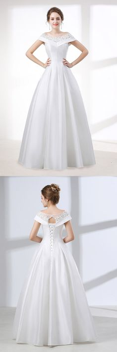 Beaded Off Shoulder Ballgown Wedding Dress, view more ideas