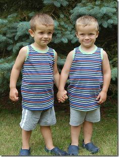 Free boys tank top pattern! 12 months to 5T)   this has a lot of PJ and boy patterns.