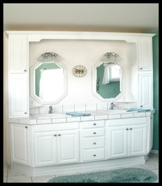 Huge beautiful vanity with twin sinks! Love!