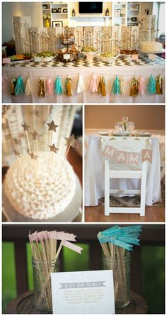 Twinkle, Twinkle Little Star Baby Shower - great gender neutral theme with fun pops of gold!