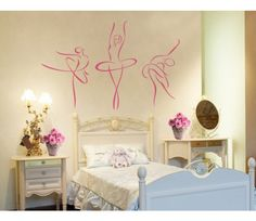 ballerina wall art for a child's bedroom