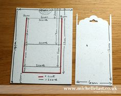 Slider card measurements for card using #SU pictograph punches - Michelle Last