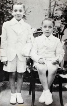 Jorge Bergoglio, now Pope Francis, is seen with his brother Oscar after first Communion in 1942  Jorge Mario Bergoglio, now Pope Francis, is pictured, left, with his brother Oscar following their first Communion in this 1942 family photo. (CNS photo/courtesy of Maria Elena Bergoglio via Reuters)
