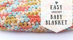 FREE CROCHET PATTERN - EASY crochet baby blanket- http://www.twistedfibersdesign.com/2015/08/crochetbabyblanketpattern/