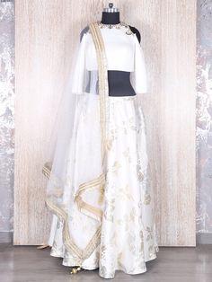Silk White Designer Lehenga Choli