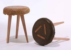 Из дерева, смолы и опилок: авторские табуреты от израильского художника Йоава Авиноама
