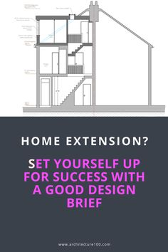 Home extension?🏠 After taking the decision to extend, the first things you need to do are to produce a good design brief for your Architect and organise your design ideas in a design journal 📐📏  Find out how to set yourself up for success with a good design brief.