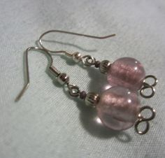 Unique Simple Lavender Beaded Earrings by TwirlingWire on Etsy, $4.00 Available now on Etsy!!! Get yours today while supplies last!