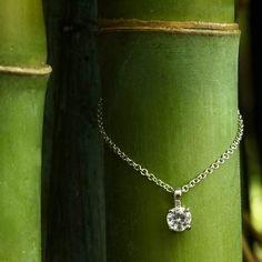 18K White Gold Four-Prong Diamond Pendant (1/2 ct.tw.).  #BrilliantEarth