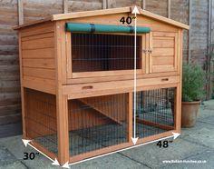 bunny hut | Total footprint: Height 102cm x Width 78cm x Length 123.5 cm ...