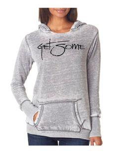 Ladies' GET SOME Vanity Zen Hooded Fleece J8912 Cement