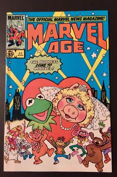 The Muppets Come To Marvel! The Official Marvel News Magazine! Marvel age comic Volume 1, #17, August 1984. Marvel Age. I LOVE GOOD STUFF! I read comic books but am no expert in grading them. This comic book set looks great to me. | eBay!