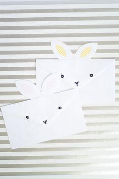 DIY: bunny envelopes