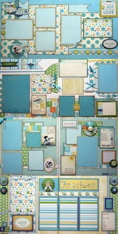 Baby Boy Set of Four Double Page Kits .:. Scraptique, Inc.