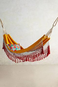 too pretty to be outdoors!! Canyon Fringe Hammock - anthropologie.com