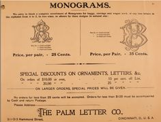 Illustrated Sample Book  Price List Of PalmS Patent Transfer
