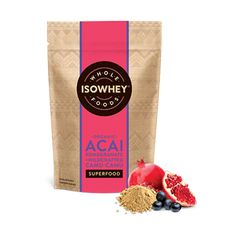 Isowhey Wholefoods Acai Pomegranate + Wildcrafted Camu-Camu Powder is a high source of antioxidants. Isowhey Wholefoods Acai Pomegranate + Wildcrafted Camu-Camu is an organic superfood blend. Post Workout Supplements, Superfood Powder, Organic Superfoods, Pre And Post, Nutritional Supplements, Vitamin C, Pomegranate, Whole Food Recipes, Berries