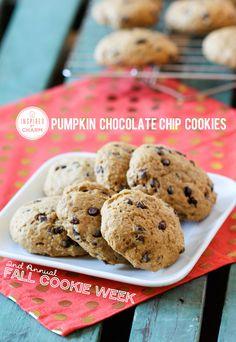 Pumpkin Chocolate Chip   Inspired by Charm #IBCFallCookieWeek