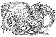 Ingenuity Dragon Colouring Pages, Genius Dragon Coloring Pages For ...