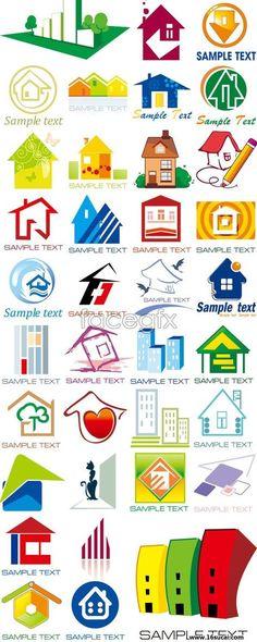 N variety of House Logo vector