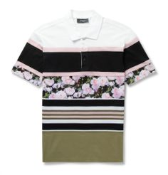 Fck Me... Hate Polos but this feel is Dope  Givenchy - Panelled Short-Sleeved Polo Shirt