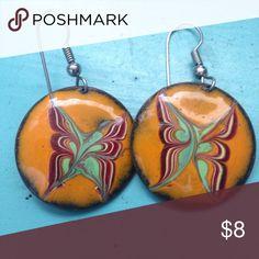 Butterfly dangle earrings So so cute!!! Little dangles! About the size of a quarter. Jewelry Earrings